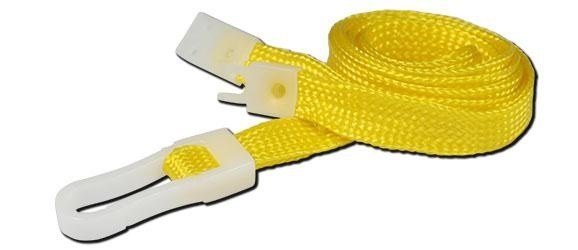 10mm STD Lanyard Plastic Slide Clip Yellow (Pack 10)