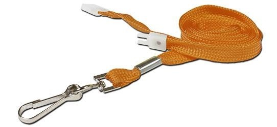 10mm Std Lanyard Metal Dog Clip Orange (Pack 10)