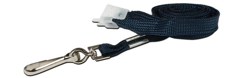 10mm Std Lanyard Metal Dog Clip Navy Blue (Pack 10)