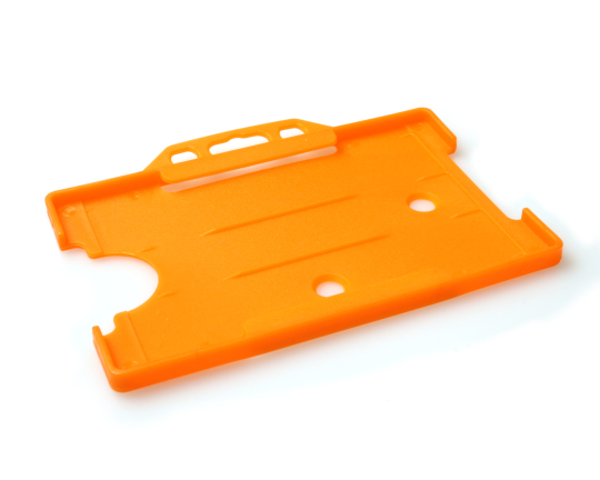 Single open Rigid L/S Card Holder Orange (Pack 25)