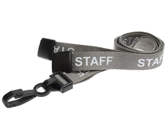 Grey Staff Lanyard | Pack 10