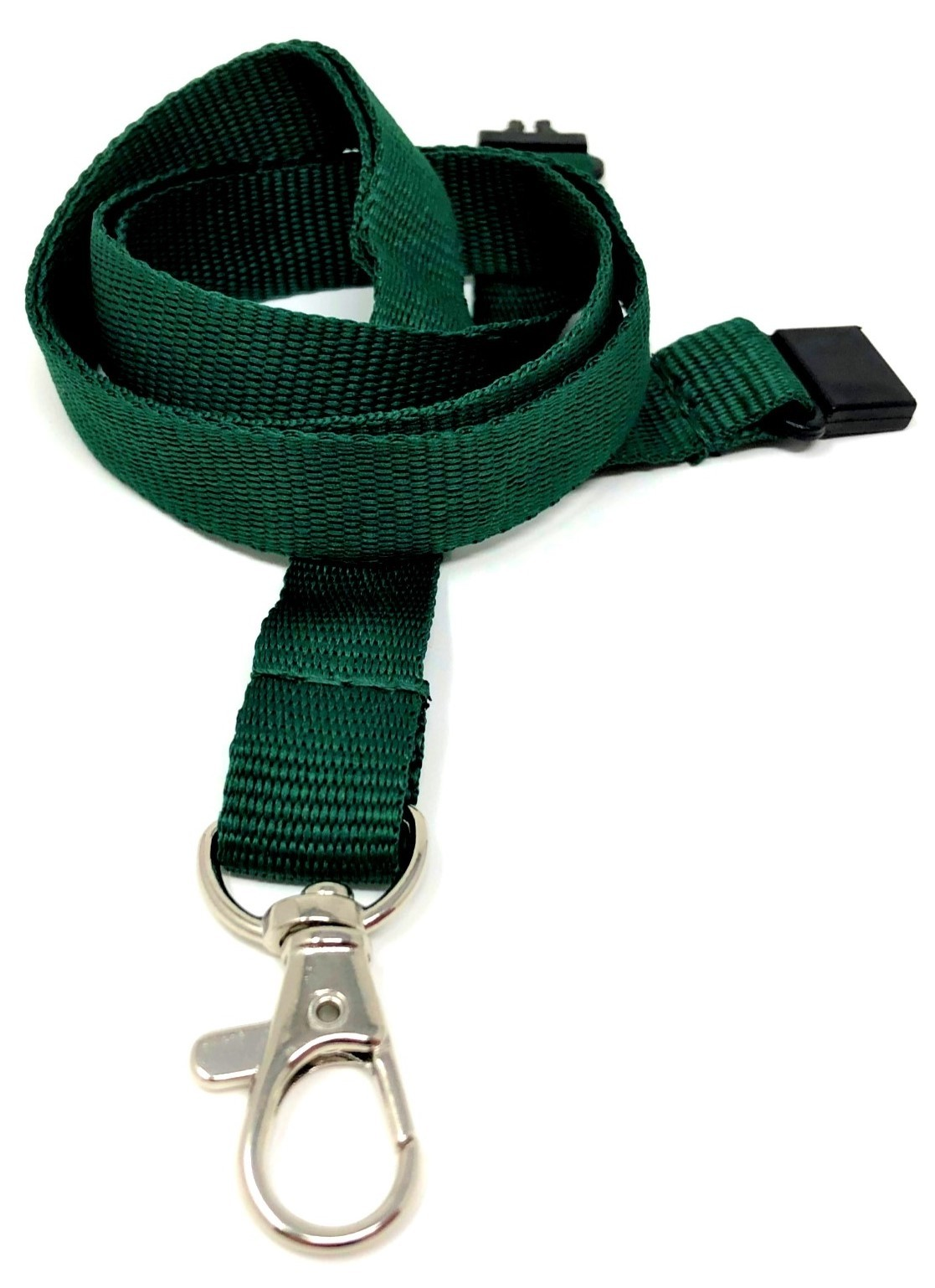 15mm Deluxe Lanyard Trigger Clip Green (Pack 10)
