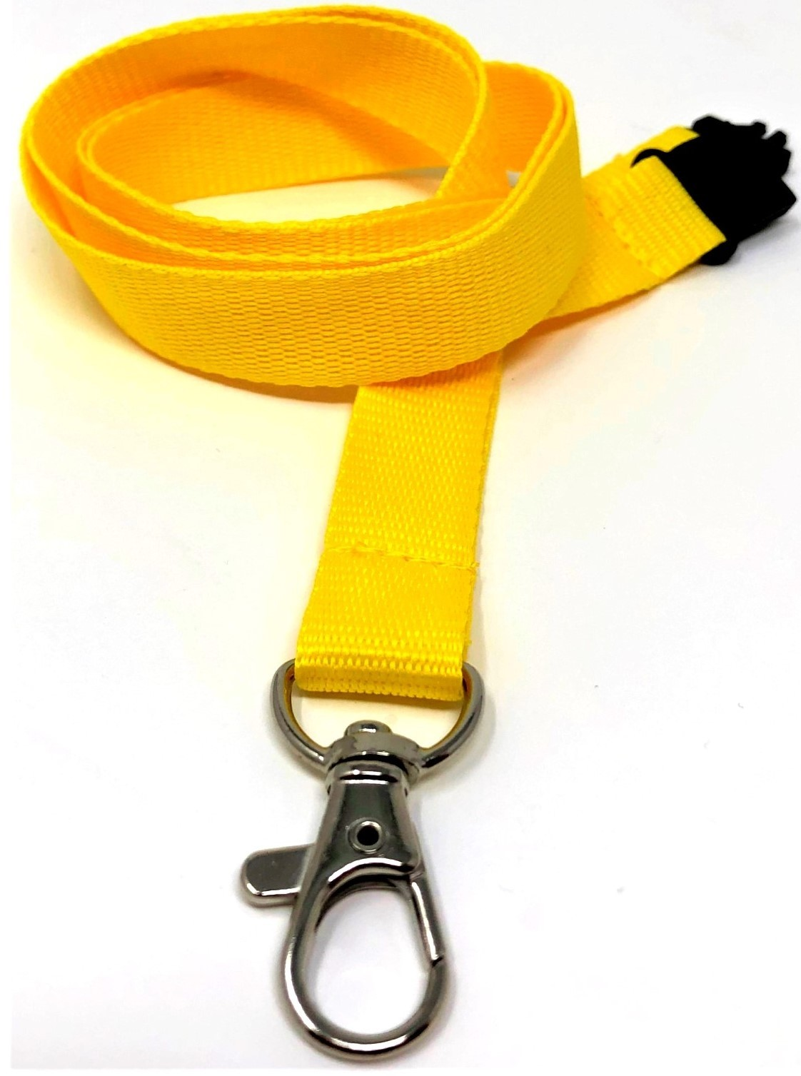 15mm Deluxe Lanyard Trigger Clip Yellow (Pack 10)