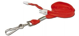 10mm Std Lanyard Metal Dog Clip Red (Pack 10)
