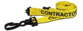 Yellow Contractor Lanyard | Pack 10