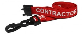 Red Contractor Lanyard | Pack 10