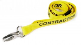 Contractor Printed Lanyard Yellow | Pack 10