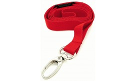 15MM DELUXE LANYARD METAL LOBSTER CLIP RED (PACK 10)