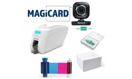 MAGICARD 300 DUAL SIDED PLASTIC ID CARD PRINTER BUNDLE
