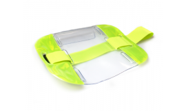 Hi-Vis Armband Card Holder Yellow (Pack 10)