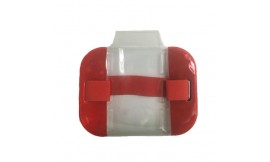 Hi-Vis Armband Card Holder Red (Pack 10)