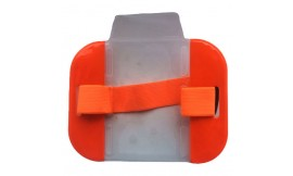Hi-Vis Armband Card Holder Orange (Pack 10)