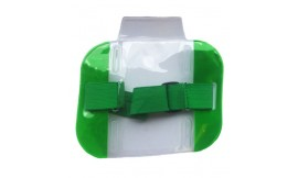 Hi-Vis Armband Card Holder Green (Pack 10)