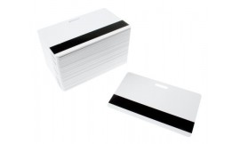 White Premium Hi-Co Mag Cards With Slot (Pack 100)