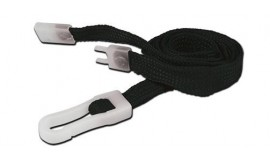 10mm STD Lanyard Plastic Slide Clip Black (Pack 10)