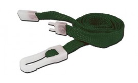 10mm STD Lanyard Plastic Slide Clip Green (Pack 10)