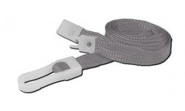10mm STD Lanyard Plastic Slide Clip Grey (Pack 10)