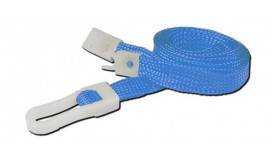 10mm STD Lanyard Plastic Slide Clip LT Blue (Pack 10)