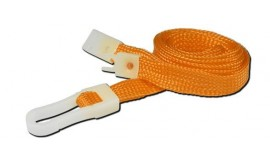 10mm STD Lanyard Plastic Slide Clip Orange (Pack 10)