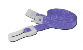 10mm STD Lanyard Plastic Slide Clip Purple (Pack 10)