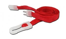 10mm STD Lanyard Plastic Slide Clip Red (Pack 10)