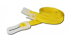10mm Yellow Standard Lanyard | Pack 10