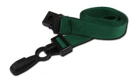 15mm Deluxe Lanyard Green | Pack 10