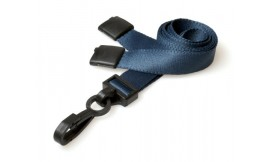 15mm Deluxe Lanyard Plastic Clip Dark Blue (Pack 10)