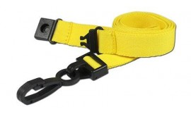 15mm Deluxe Lanyard Yellow | Pack 10