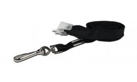 10mm Std Lanyard Metal Dog Clip Black (Pack 10)