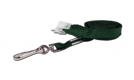 10mm Std Lanyard Metal Dog Clip Green (Pack 10)