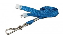 10mm Std Lanyard Metal Dog Clip Light Blue (Pack 10)