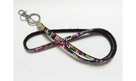 Rhinestone Bling Lanyard Multi / Rainbow (Pack 1)