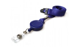 15mm Retractable Lanyard Blue (Pack 5)