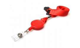 Retractable Lanyard 15mm Red | Pack 5