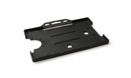 Single open Rigid L/S Card Holder Black (Pack 25)