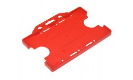 Double Side open Rigid L/S Card Holder Red (Pack 25)