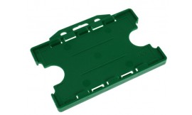 Double Side open Rigid L/S Card Holder Dark Green (Pack 25)