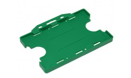 Double Side open Rigid L/S Card Holder Light Green (Pack 25)