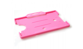 Single open Rigid L/S Card Holder Pink (Pack 25)