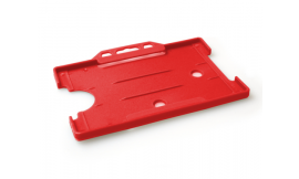 Single open Rigid L/S Card Holder Red (Pack 25)