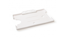 Single open Rigid L/S Card Holder White (Pack 25)