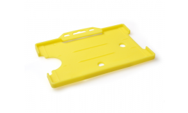 Single open Rigid L/S Card Holder Yellow (Pack 25)