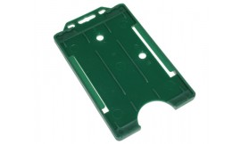 Single open Rigid Portrait Card Holder Green (Pack 25)