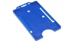 Single open Rigid Portrait Card Holder LT Blue (Pack 25)