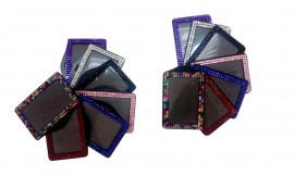 Bling Card Holder Landscape Pink (Pack 1)