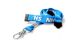15mm Lanyard Printed NHS 2BA Metal Clip (Pack 10)