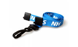 15mm Lanyard Printed NHS Plastic Clip (Pack 10)