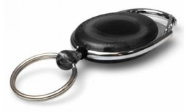 Premier Black Retractable Card Reel with Key Ring | Pack 5