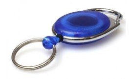 Premier Blue Retractable Card Reel with Key Ring | Pack 5